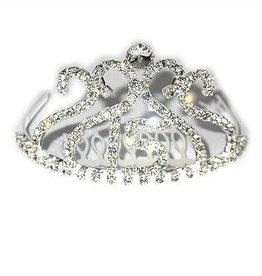 Clear Jeweled Tiara with 15