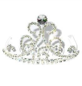 Clear Jeweled Tiara with 16