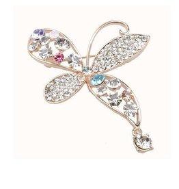 Chrystal & Rhinestone Butterfly Brooch