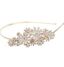 Gold Floral Jeweled Headband