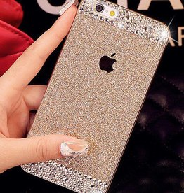 Gold iPhone 6 Glitter & Rhinestone Case