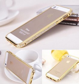 Gold Jeweled iPhone 6 Metal Bumper Case
