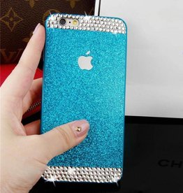 Blue iPhone 6 Glitter & Rhinestone Case