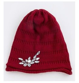 Red Jeweled Beanie