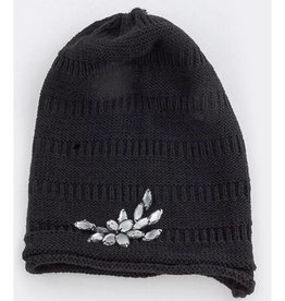 Black Jeweled Beanie