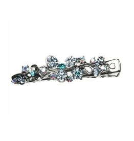 Turquoise & Clear Crystal Hairpin