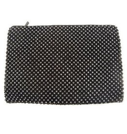 Black Rhinestone Mesh Purse