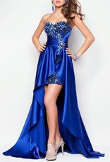 Royal Blue Sequin High Low Dress Size 8