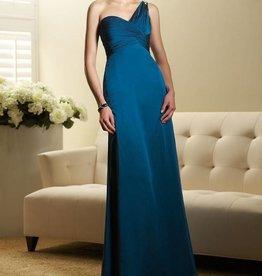 Teal Asymmetric Formal Long Dress Size 14