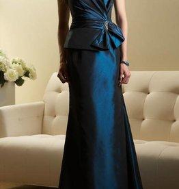 Deep Teal Satin Formal Long Dress Size 14