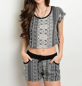 Black & White Tribal Shorts