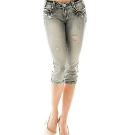 Light Denim Jean Capris