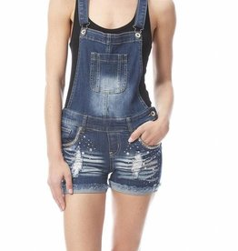 Denim Jean Overall Shorts