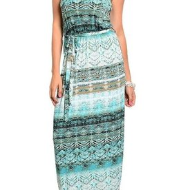 Mint Brown Maxi Dress