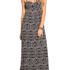 Black And Tan Maxi Dress