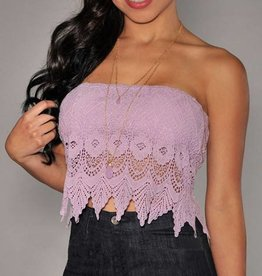 Lilac Lace Sleeveless Crop Top Size XS-M