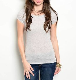 Light Gray Short Sleeve T Shirt