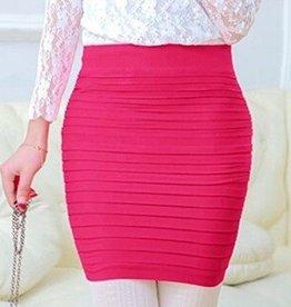 Pink Folded Skirt