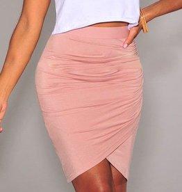 Pink Draped Skirt