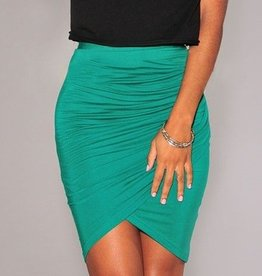 Green Draped Skirt