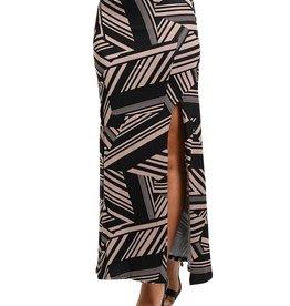 Mocha Black Maxi Skirt