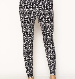 Black And White Diamond Joggers