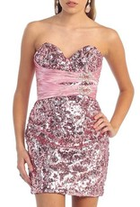 Pink Jeweled High Low Dress