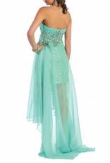 Mint Jeweled High Low Dress Size 4
