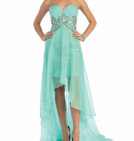 Mint Jeweled High Low Dress Size 4