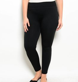 Black Plus Size Fleece Leggings