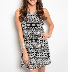 Ivory Black Short Dress