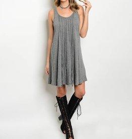 Gray Fringe Short Dress