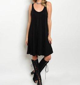 Black Fringe Short Dress