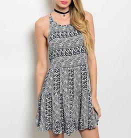 Navy Tribal Short Dress