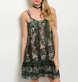Olive & Brown Short Dress