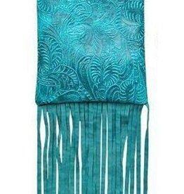 Turquoise Tassel Crossbody Bag