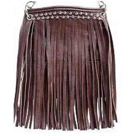 Dark Brown Jeweled Tassel Crossbody Bag