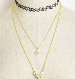 Jewel Double Chain Choker