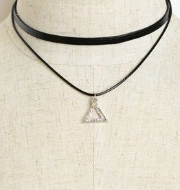 Triangle Jeweled Choker