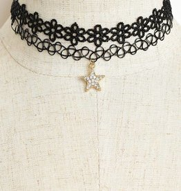 Jeweled Star Choker