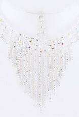 Fringe Iridescent Crystal Choker