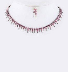Fuchsia Jeweled Choker