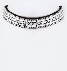 Clear Mix Crystal Choker