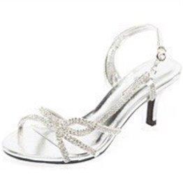 Silver Rhinestone Short Heels