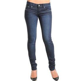 Blue Rhinestone Jeweled Pocket Jeans