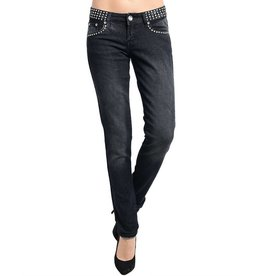 Black Rhinestone Jeweled Pocket Jeans