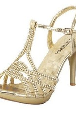 Gold Heels With Rhinestones