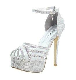 Silver Sparkle Platform Heels