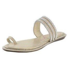 Beige Sparkle Sandals