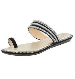 Black Sparkle Sandals